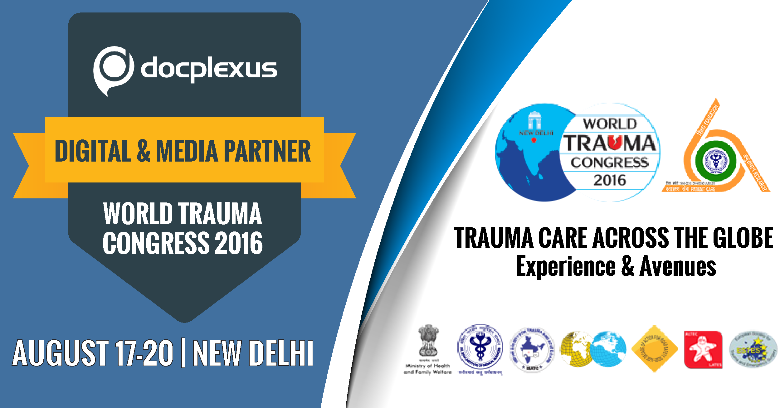 Docplexus Nominated As Partner For World Trauma Congress, 2016