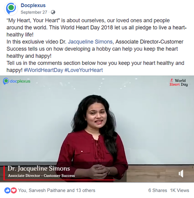 Dr Jacqueline Simons mantra for a #healthyheart shared on Facebook on September 27